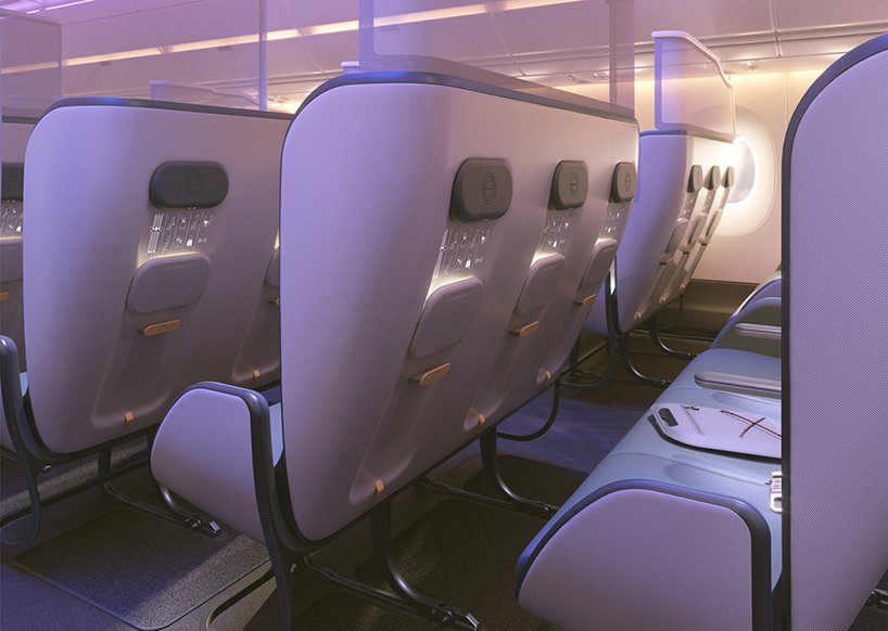 priestmangoode pure skies cabin design is their vision of tomorrow's air travel airplane cabin design